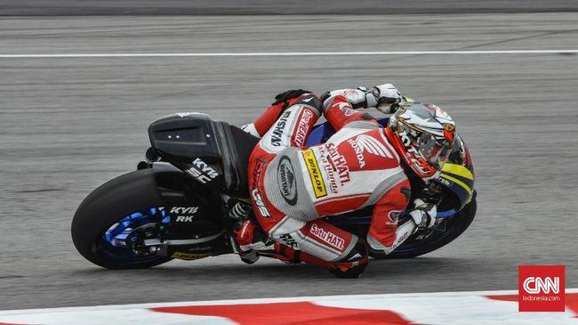 Dimas Ekky Merasa Beruntung Tak Cedera Parah di Moto2 Spanyol
