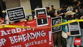 Ketua Pusat Studi Migrasi Migrant Care, Anis Hidayahmenilai eksekusi mati Tuti Tursilawati olehArab Saudi adalah contoh negara keji dan buta HAM. (CNN Indonesia/Adhi Wicaksono)