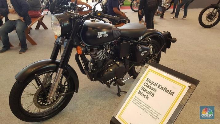 Presiden Joko Widodo (Jokowi) mendatangi pameran Indonesia Motorcycle Show bertempat di Jakarta Convention Center (JCC)