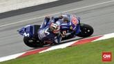 Pebalap Movistar Yamaha Maverick Vinales mengalami masa sulit di babak kualifikasi dan akan start dari posisi ke-11. (CNN Indonesia /Haryanto Tri Wibowo)
