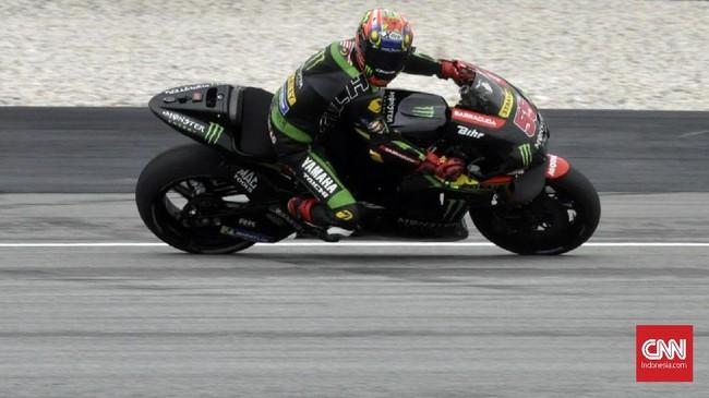Pebalap tuan rumah Hafizh Syahrin gagal memperlihatkan kecepatan terbaik dan akan start dari posisi ke-23 pada balapan MotoGP Malaysia 2018. (CNN Indonesia /Haryanto Tri Wibowo)
