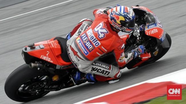 Pebalap Ducati Andrea Dovizioso akan start dari posisi kelima pada balapan MotoGP Malaysia 2018, Minggu (4/11). (CNN Indonesia /Haryanto Tri Wibowo)