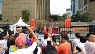 Kemeriahan CFD Jakarta saat Suguhkan Pesona Danau Toba