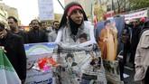 Panglima Garda Revolusi Iran, Mohammad Ali Jafari, mengatakan akan melawan segala bentuk 'perang psikologis' AS melalui penerapan kembali sanksi. (AFP Photo/Atta Kenare)