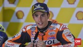 Marc Marquez akhirnya jadi pemenang MotoGP Malaysia 2018. Ia mengaku tampil habis-habisan untuk bisa meraih kemenangan. (CNN Indonesia/Haryanto Tri Wibowo)