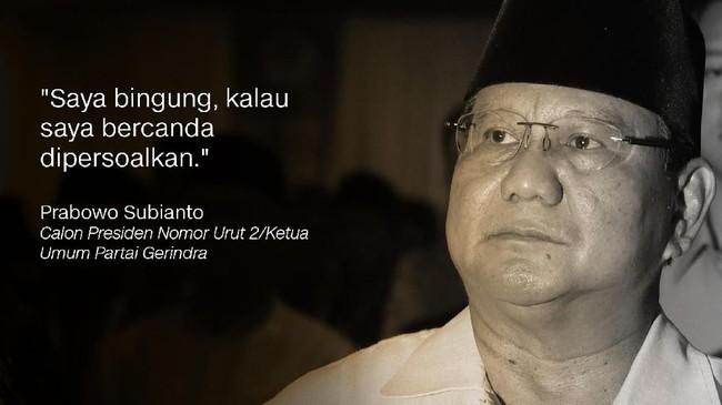 Prabowo Subianto, Calon Presiden Nomor Urut 2/Ketua Umum Partai Gerindra