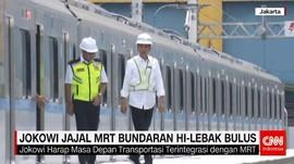 Jokowi Jajal MRT Bundaran HI-Lebak Bulus