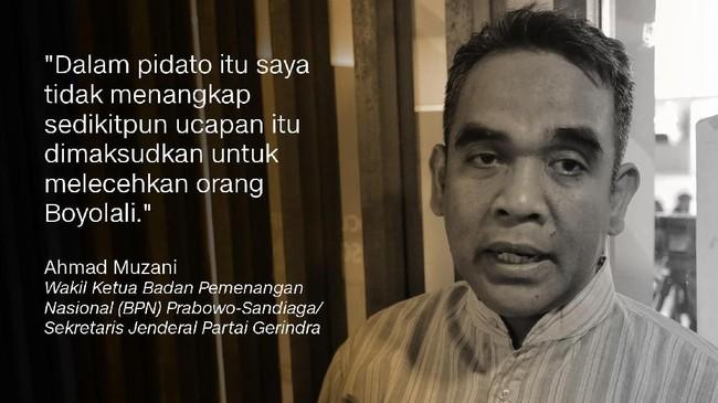 Ahmad Muzani, Wakil Ketua Badan Pemenangan Nasional (BPN) Prabowo-Sandiaga/Sekretaris Jenderal Partai Gerindra