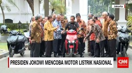 Presiden Uji Motor Listrik Buatan Indonesia
