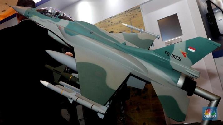 Lockheed Martin saat berpartisipasi di Indo Defence 2018 Expo & Forum di Jakarta (CNBC Indonesia/Muhammad Sabki)