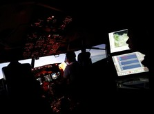Melihat Simulator Pesawat Boeing 737-900 ER Milik Lion Air