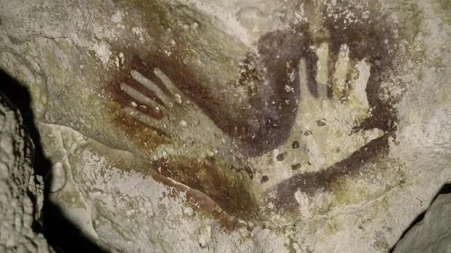 Gambar ini merupakan salah satu inovasi penting dalam sejarah kebudayaan manusia yang berakar pada zaman es di Indonesia saat masih menyatu dengan benua Asia(Arkenas/Kinez Riza)