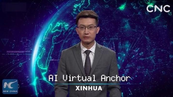 Hebat! Anchor TV Ini Bukan Manusia Tapi Virtual