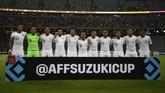 Timnas Indonesia pada awalnya membidik kemenangan atas Singapura di pertandingan pembuka. Kemenangan diharapkan bisa menambah motivasi Skuat Garuda untuk laga kedua. (ANTARA FOTO/Sigid Kurniawan/pd)