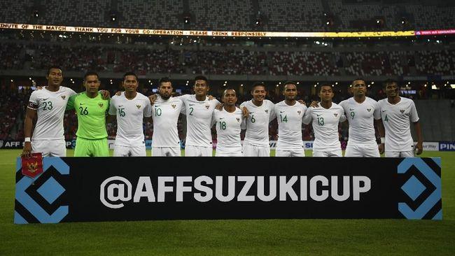 Timnas Indonesia Tertinggal 0-1 dari Singapura di Babak I