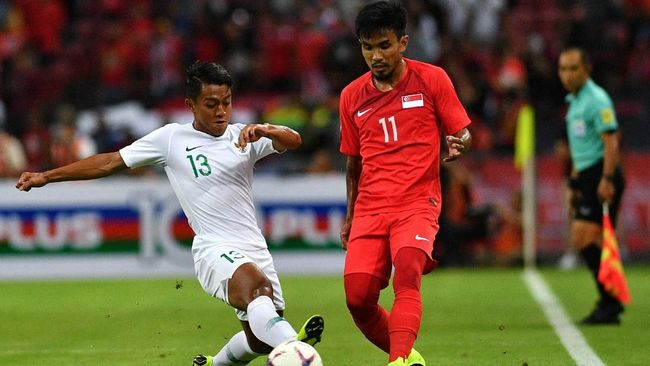 Timnas Indonesia Kalah 0-1 dari Singapura di Piala AFF 2018