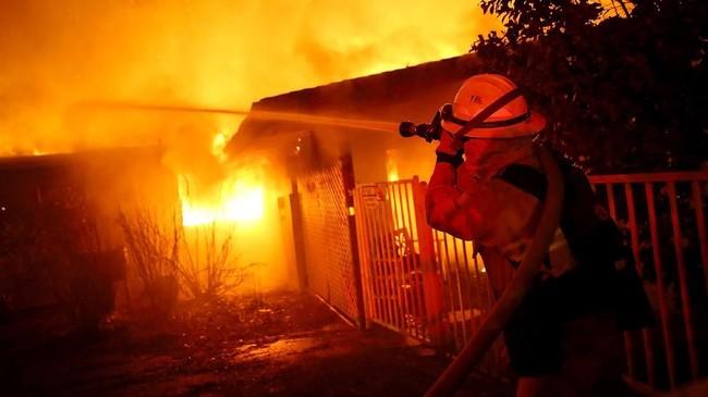Departemen Kehutanan dan Pencegahan Kebakaran menyatakan api telah melahap 18 ribu hektar pada Kamis sore sekitar pukul 14.00. (Justin Sullivan/Getty Images/AFP)