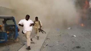 FOTO: Saat Rangkaian Bom Luluh Lantak Ibu Kota Somalia