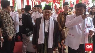 Ma'ruf Amin Yakin Didukung Seluruh Warga NU Jakarta