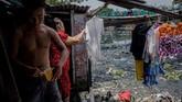 Rumah-rumah darurat tersebut akan dibongkar sesuai rencana pemerintah Vietnam. (AFP/Nguyen)