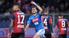 Sempat Tertinggal, Napoli Kalahkan Genoa 2-1 di Liga Italia