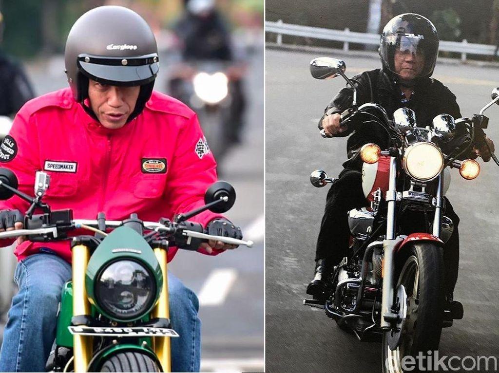 Jokowi dan Duterte sama-sama hobi motoran. Menurut Otolovers lebih keren gaya Jokowi atau Duterte? Foto: Istimewa