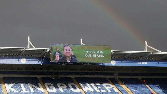 Pelangi di Leicester vs Burnley Diyakini Fan untuk Vichai