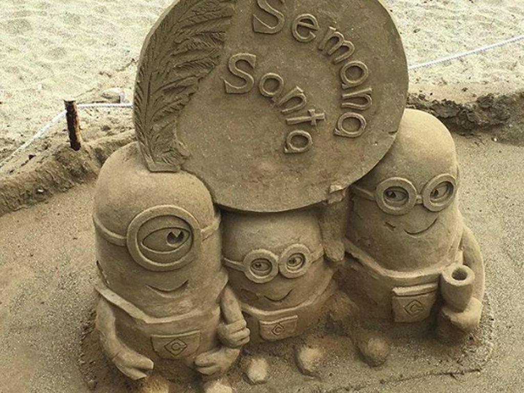Potret Karya Seni dari Pasir yang Memukau