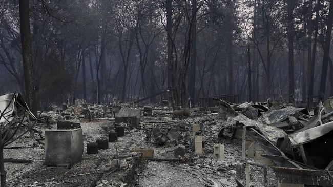 Bencana yang dijuluki Camp Fire dilaporkan sudah menghancurkan lebih dari 6.700 rumah dan tempat bisnis di Paradise. (Reuters/Stephen Lam)
