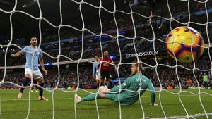 FOTO: Manchester City Buat Manchester United Merana di Etihad