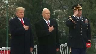 VIDEO: Usai Dikecam, Trump Hadiri Penghormatan Perang Dunia