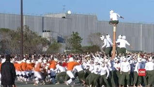 VIDEO: Botaoshi, Olahraga Tradisional Paling Ganas di Jepang