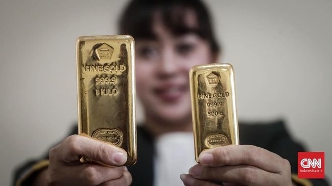 Sudah Dua Hari Harga Emas Antam Tak Bergerak dari Rp669 Ribu