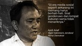 Andi Arief, Wakil Sekretaris Jenderal Partai Demokrat.
