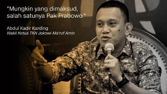 Abdul Kadir Karding, Wakil Ketua TKN Jokowi-Ma'ruf Amin.