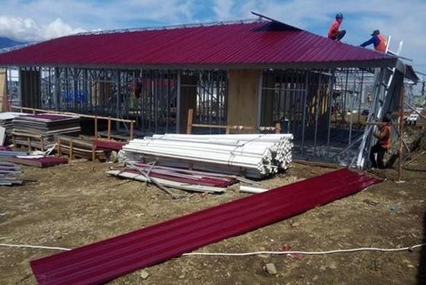 116 Huntara Bisa Digunakan Korban Gempa Sulteng Mulai Desember