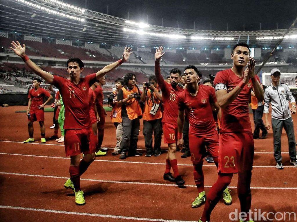 Tambahan tiga angka itu membuat Indonesia naik dua trap ke posisi kedua di papan kalsemen sementara Piala AFF 2018.