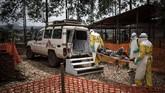 Sekitar setengah dari seluruh kasus terjadi di Beni, sebuah kota dengan 800 ribu penduduk di wilayah Kivu Utara. (Photo by John WESSELS/AFP)