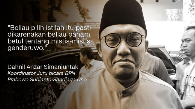 Dahnil Anzar Simanjuntak, Koordinator Juru Bicara BPN Prabowo-Sandi.