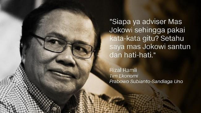 Rizal Ramli, Tim Ekonomi Prabowo Subianto-Sandiaga Uno.