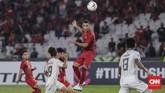 Beto Goncalves memanfaatkan umpan Riko Simanjuntak untuk membobol gawang Timor Leste lewat sundulan ke tiang jauh. (CNN Indonesia/Adhi Wicaksono)
