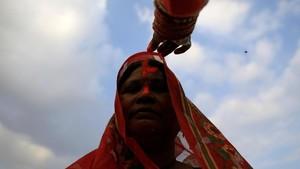 FOTO: Festival Chhath Puja, Pemujaan kepada Dewa Matahari