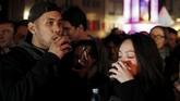 Beaujolais Nouveau Day sendiri dimulai pada tahun 1985 silam. Biasanya, perayaan ini jatuh pada Kamis ketiga di bulan November. (REUTERS/Emmanuel Foudrot)