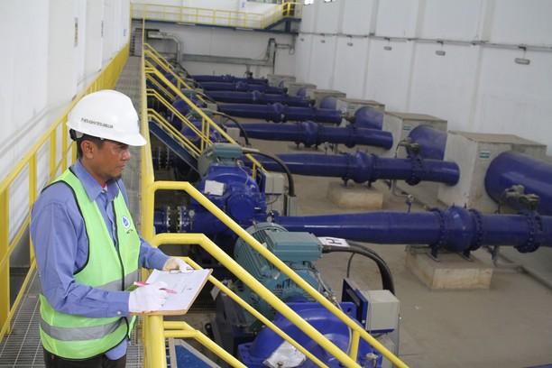 Progres Proyek Sistem Penyediaan Air Minum (SPAM) Umbulan