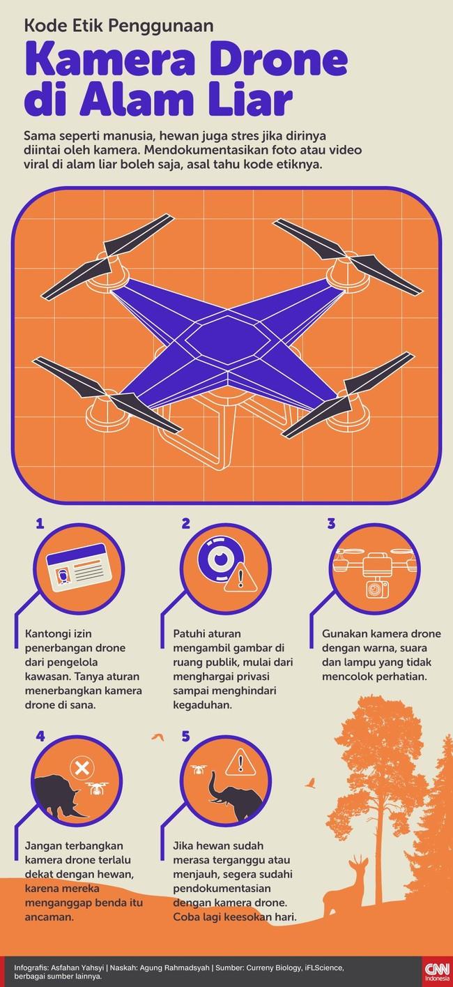 INFOGRAFIS: Kode Etik Penggunaan Kamera Drone di Alam Liar