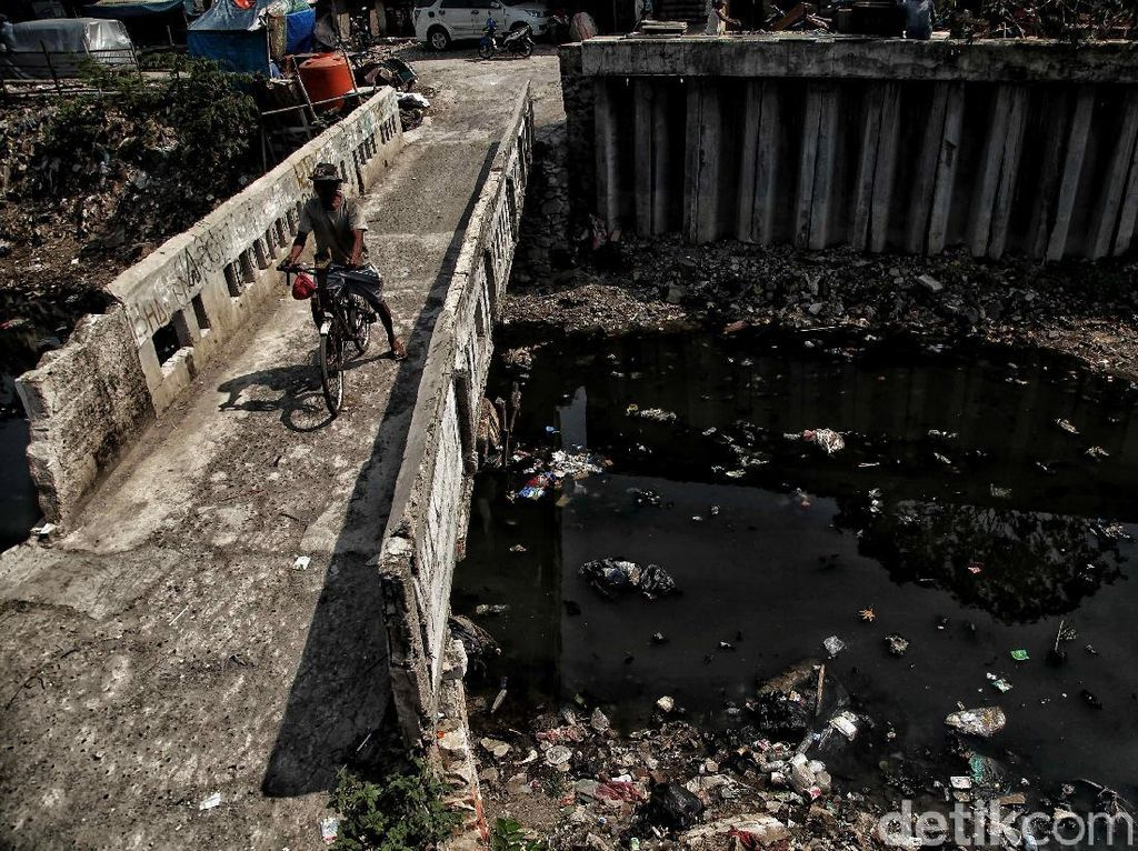 Begini kondisi terkini Kali Gendong di Penjaringan, Maura Baru, Jakarta Utara, Jumat (16/11/2018).