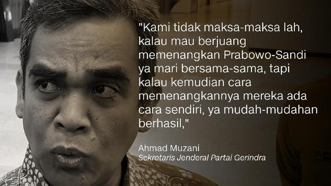 Ahmad Muzani, Sekjen Gerindra.