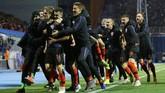 Kemenangan Kroasia akhirnya hadir di menit ke-90 lewat gol yang dicetak Tin Jedvaj. Kroasia mengakhiri laga dengan skor 3-2. (REUTERS/Antonio Bronic)
