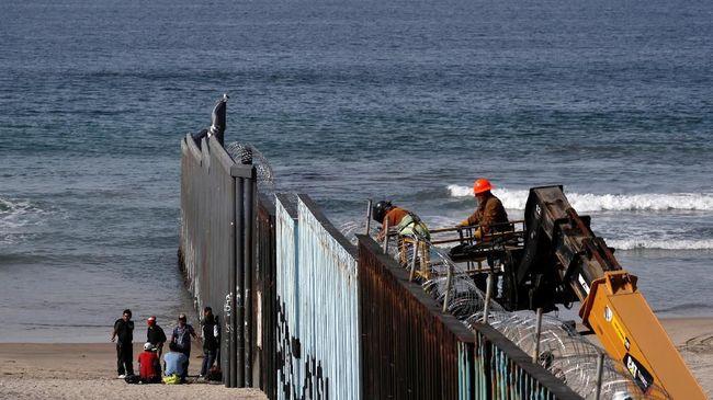 Pentagon Tunda Proyek Rp51 Triliun demi Bangun Tembok Meksiko