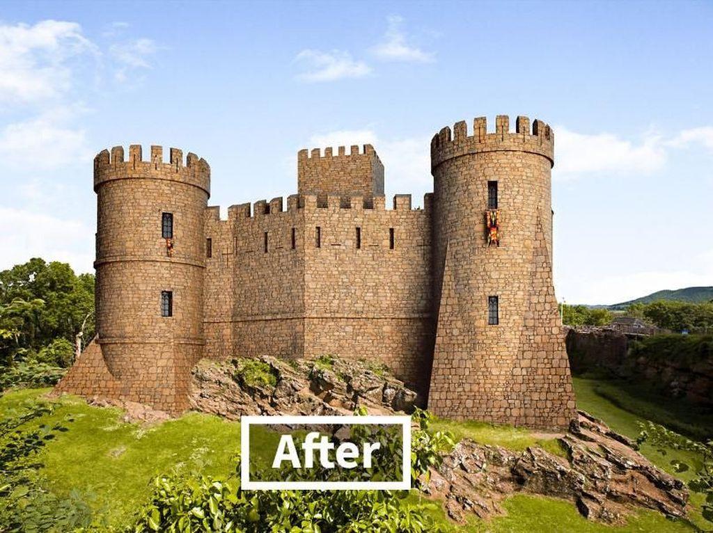 Ini adalah kastil Goodrich setelah dibangun ulang. Istimewa/Boredpanda/onstride.co.uk.